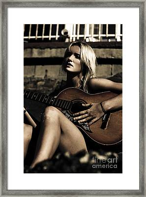 Midnight Musician Framed Print by Jorgo Photography - Wall Art Gallery