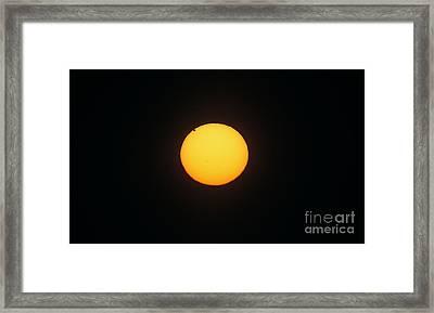 Midnight Sun With Transit Of Venus, 2012 Framed Print