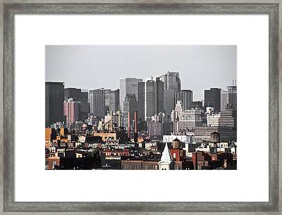 Midtown Manhattan 1978 Framed Print by Kellice Swaggerty