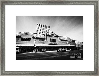 midtown plaza shopping mall downtown Saskatoon Saskatchewan Canada Framed Print by Joe Fox
