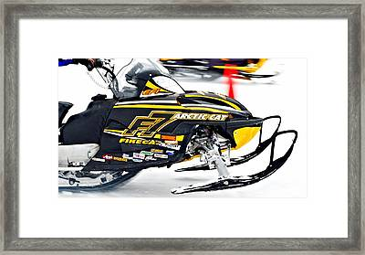Midway Bc Snow Drags - 25 Framed Print by Don Mann