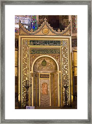 Mihrab In The Hagia Sophia Framed Print by Artur Bogacki