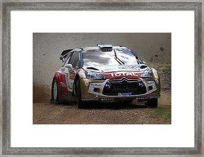 Mikko Hirvonen Fia World Rally Championship Australia Framed Print