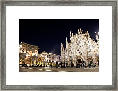 Milan Cathedral Vittorio Emanuele II Gallery Italy Framed Print