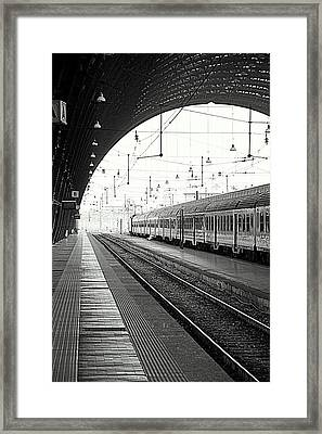 Milan Central Station Framed Print by Valentino Visentini