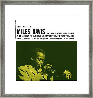 Miles Davis -  Miles Davis And The Modern Jazz Giants (prestige 7150) Framed Print