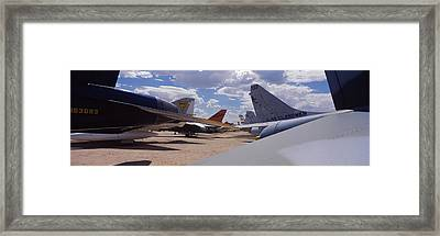 Military Airplanes At Davismonthan Air Framed Print by Panoramic Images