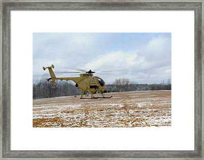 Military Helicopter Drone Framed Print