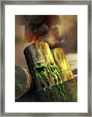 Military Robots Framed Print by Victor Habbick Visions