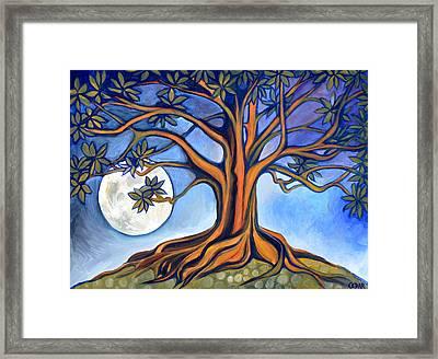 Milk Moon Rising Framed Print by Cedar Lee