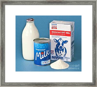 Milk Products Framed Print by Martyn F. Chillmaid