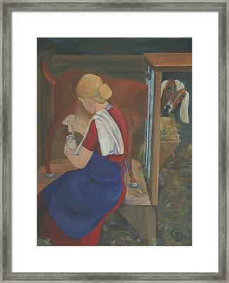 Milkmaid Framed Print by Gail Daley