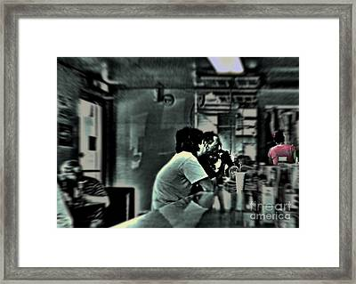 Framed Print featuring the photograph Milkshake by Lin Haring