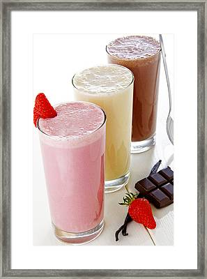 Milkshake Framed Print