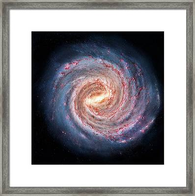 Milky Way Galaxy Framed Print by Alfred Pasieka