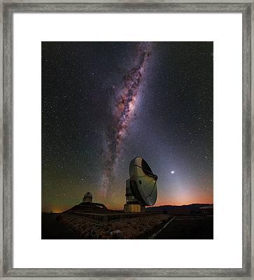 Milky Way Over La Silla Observatory Framed Print by Babak Tafreshi