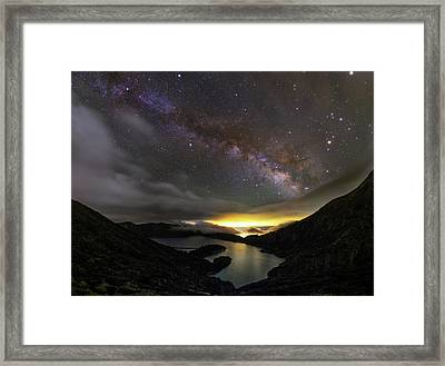 Milky Way Over Lagoa Do Fogo Framed Print by Babak Tafreshi