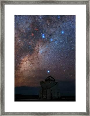 Milky Way Over Paranal Observatory Framed Print by Babak Tafreshi