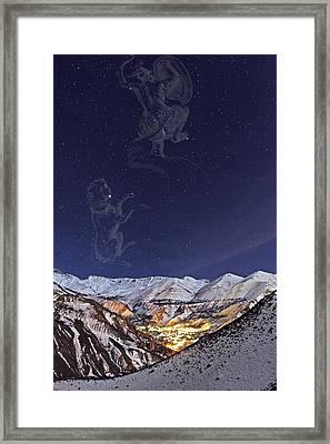 Milky Way Over The Alborz Mountains, Framed Print by Babak Tafreshi