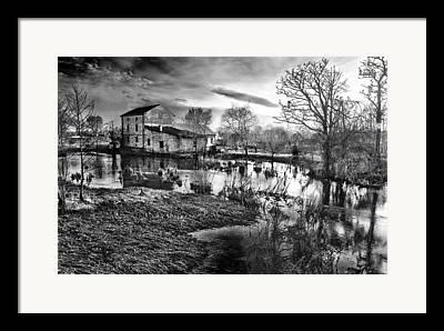 Old Mill Scenes Digital Art Framed Prints