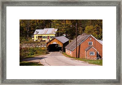 Mill Covered Bridge. Framed Print