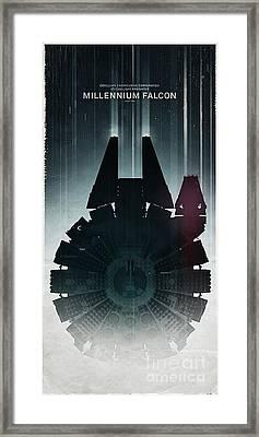 Millennium Falcon Framed Print