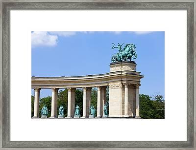 Millennium Monument In Budapest Framed Print by Artur Bogacki