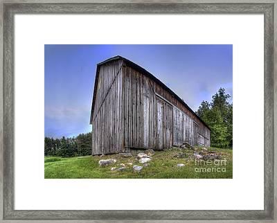 Miller Barn At Port Oneida Framed Print by Twenty Two North Photography