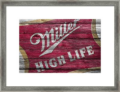 Miller High Life Framed Print by Joe Hamilton