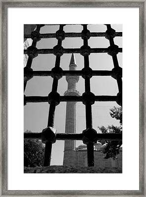 Minaret Framed Print by Ernesto Cinquepalmi