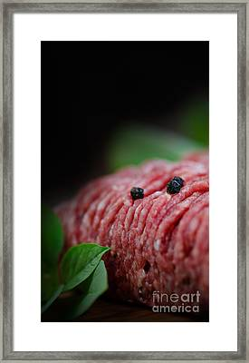 Minced Meat Framed Print by Mythja  Photography