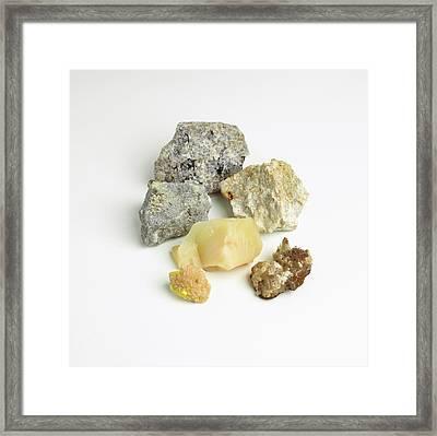 Mineral Samples Framed Print