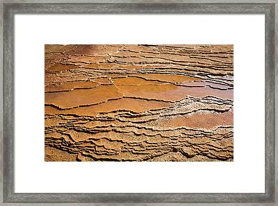 Mineral Terraces At Crystal Geyser Framed Print