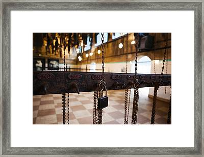 Miners Clothing Hanging Room, Salle Des Framed Print by Panoramic Images