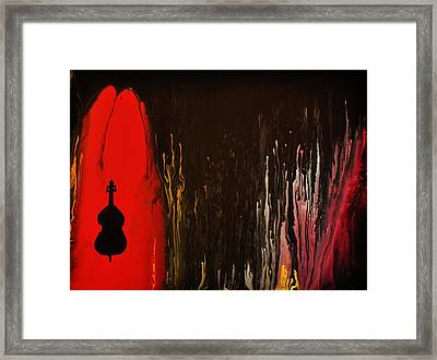 Framed Print featuring the painting Mingus by Michael Cross
