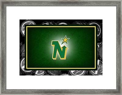 Minnesota North Stars Framed Print