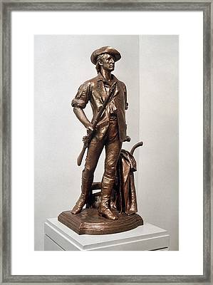 Minutemen Soldier Framed Print by Granger