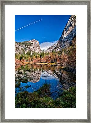 Mirror Lake Framed Print by Cat Connor