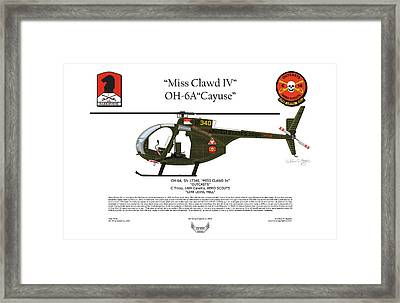 Miss Clawd Iv Oh-6a Loach Framed Print