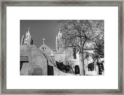 Mission In Black And White Framed Print
