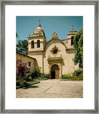 Mission San Carlos - Carmel California Framed Print by Mountain Dreams
