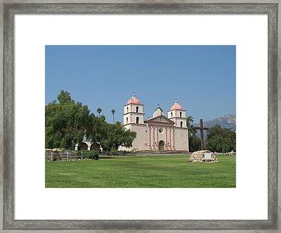 Mission Santa Barbara Framed Print by Christiane Schulze Art And Photography
