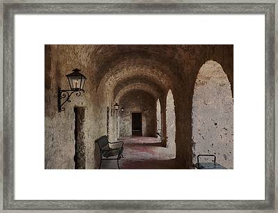 Missions Of  San Antonio Framed Print by Cindy Rubin