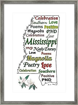 Mississippi Magnolia Love Framed Print by Patricia Neely-Dorsey