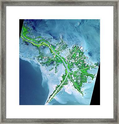 Mississippi River Delta Framed Print by Celestial Images