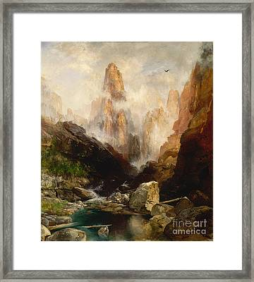 Mist In Kanab Canyon Utah Framed Print by Celestial Images
