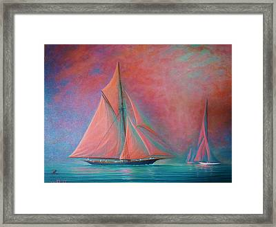 Misty Bay Framed Print