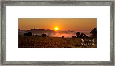 Misty Ridge Framed Print