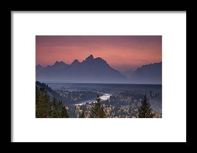 Snake Mountain Framed Prints