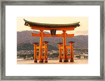 Miyajima Torii Gate -  Japan Framed Print